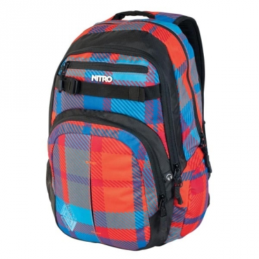 Nitro Travel Pack Chase Plaid Red-Blue