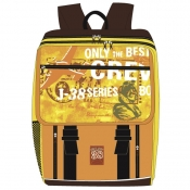 Schulrucksack ONLY THE BEST CREW braun/orange